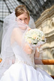 Bride in passage Royalty Free Stock Images