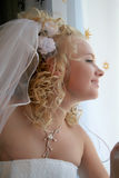 Bride pending the groom Royalty Free Stock Images