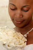 Bride Petal. A bride holding her beautiful bouquet Royalty Free Stock Photo