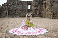 Bride at a photo shoot, Cantral America Royalty Free Stock Images