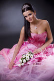 Bride in pink Stock Photos