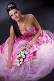Bride in pink Royalty Free Stock Image