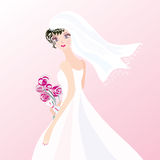 Bride on the pink background Stock Photography
