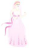 The bride in a pink dress. With a ring Stock Images