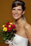 Bride Port. A bride holding her flower bouquet Royalty Free Stock Photo