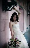 Bride portrait. A portrait of a young bride royalty free stock image