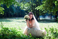 Bride portrait Stock Images