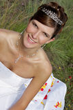 Bride Portrait. A bride in her white wedding dress Royalty Free Stock Photography