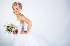 Bride portrait Stock Images