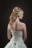 Bride. Portrait of a beautiful woman in a wedding dress in the image of the bride Stock Photos