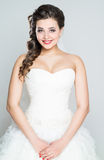 Bride portrait. With hairstyling and makeup studio shot Royalty Free Stock Photography