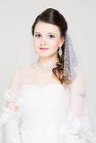 Bride portrait. With hairstyling and makeup studio shot Stock Photos
