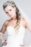 Bride portrait. With hairstyling and makeup studio shot Stock Image