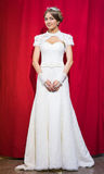 Bride portrait. With hairstyling and makeup studio shot Royalty Free Stock Images