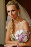 Bride portrait indoors Royalty Free Stock Photography