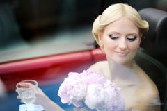 Bride portrait outdoors Stock Photography