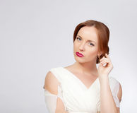 Bride portrait in studio Stock Images