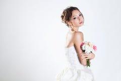 Bride portrait in studio Royalty Free Stock Photos
