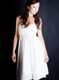 Bride portrait in studio. On black background Royalty Free Stock Photo