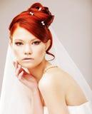 Bride portrait.Wedding dress Stock Images