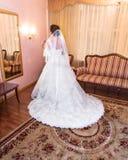 Bride  portrait wedding dress Stock Photography