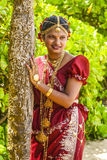 A Bride poses during a Poruwa in Colombo, Sri Lanka Royalty Free Stock Photography