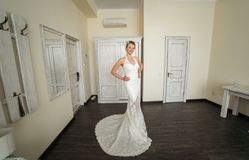 Bride posing Royalty Free Stock Photography