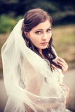 bride posing in her wedding day Royalty Free Stock Images