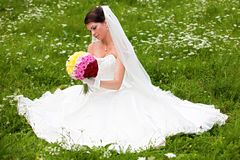 Free Bride Posing In Her Wedding Day Stock Images - 21566664