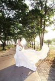 Bride posing outdoor Royalty Free Stock Photo