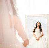 Bride posing in studio. Beautiful Bride posing in studio Stock Photos