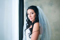Bride posing in studio. Beautiful Bride posing in studio Stock Photography