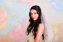 Bride posing in studio Stock Photo