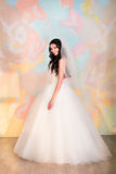 Bride posing in studio. Beautiful Bride posing in studio Royalty Free Stock Images