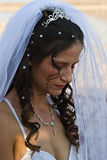 Bride praying Royalty Free Stock Photo