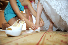 Bride Preparation Royalty Free Stock Image