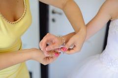 Bride Preparation Stock Photography