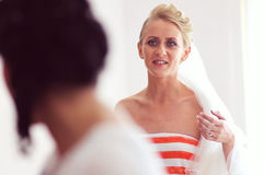 Bride preparing for her wedding Royalty Free Stock Photos