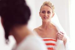 Bride preparing for her wedding Royalty Free Stock Photos