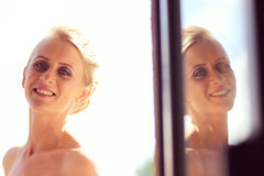 Bride preparing for her wedding Stock Photography