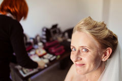Bride preparing for her wedding Royalty Free Stock Images