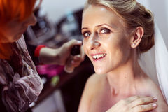 Bride preparing for her wedding Royalty Free Stock Photo
