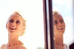 Bride preparing for her wedding Royalty Free Stock Image