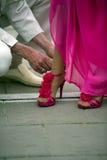 Bride preparing Stock Images