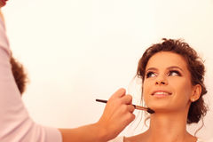 Bride preparing for wedding Royalty Free Stock Images