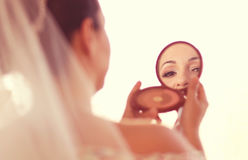 Bride preparing for wedding Stock Photography