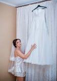Bride preparing for wedding Royalty Free Stock Photo