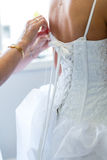 Bride preparing for wedding Stock Photos