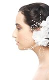 Bride Profile Portrait Royalty Free Stock Images