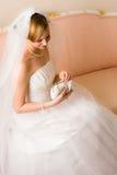 Bride and purse Stock Photo